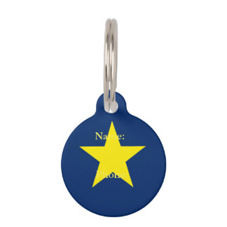 Flag of the Republic of Texas Pet ID Tag
