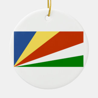 Flag of the Seychelles Round Ceramic Decoration