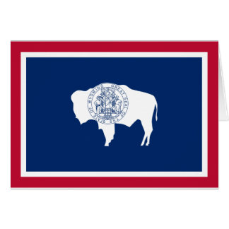 Flag of the Wyoming Card