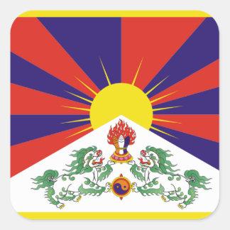 Flag of Tibet Square Sticker