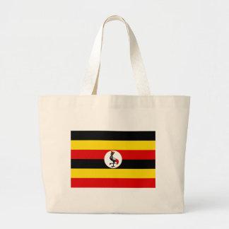 Flag of Uganda Large Tote Bag