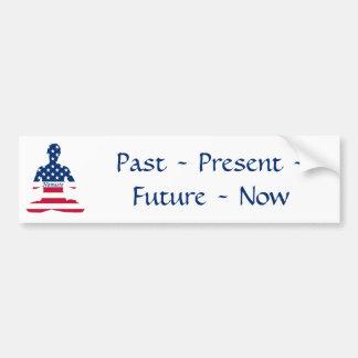 Flag of USA meditation American yoga Bumper Sticker