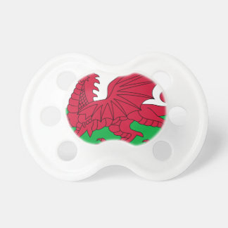 Flag of Wales - The Red Dragon - Baner Cymru Pacifier