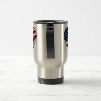 flag stainless steel travel mug