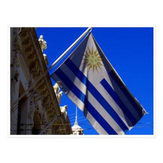 flag uruguay postcard