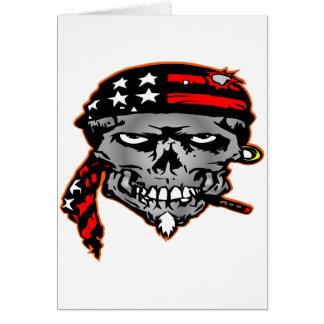 Flag Wrap Skull Card