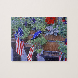 Flags and Flowers in Philipsburg Montana Jigsaw Puzzle