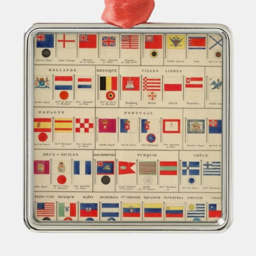 Flags, Badges Christmas Tree Ornament
