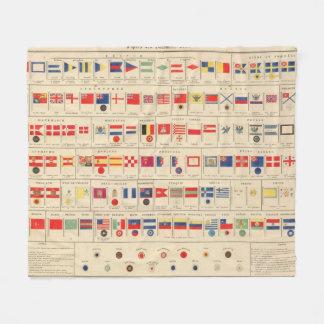 Flags, Badges Fleece Blanket