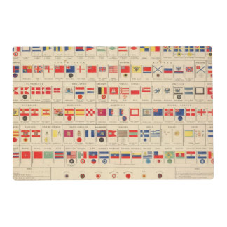 Flags, Badges Laminated Placemat