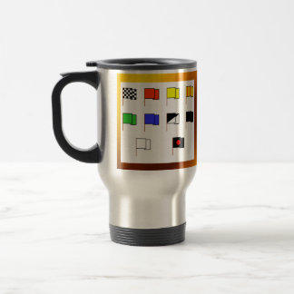 """Flags"" by Flagman Stainless Steel Travel Mug"