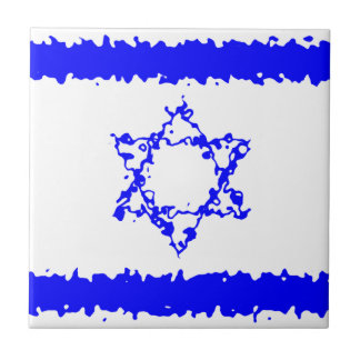 Flags Israel Blue Country Tile
