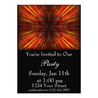 Flame Abstract Party Invite