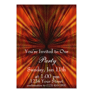 """Flame Abstract Party Invite full 5"""" X 7"""" Invitation Card"""