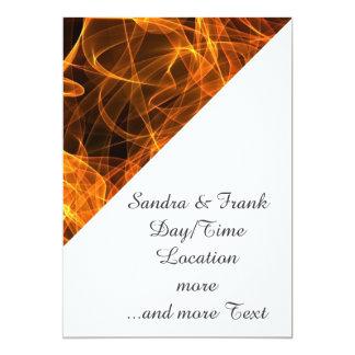 flame art orange 010 5x7 paper invitation card