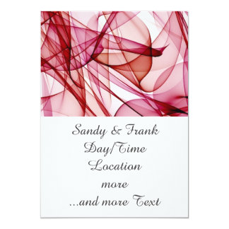 flame art red-white 5x7 paper invitation card