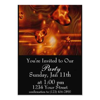 "Flame heart Party Invite 5"" X 7"" Invitation Card"