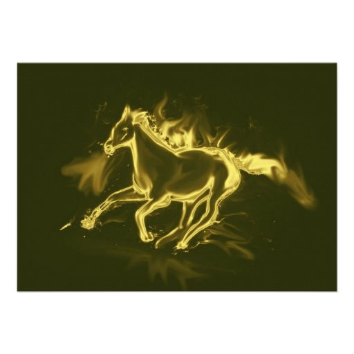 flame horse, golden custom announcement