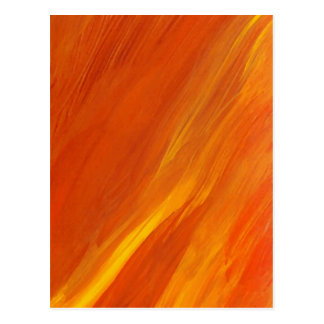 Flame Orange Yellow Gold Firethrower Flames Postcard