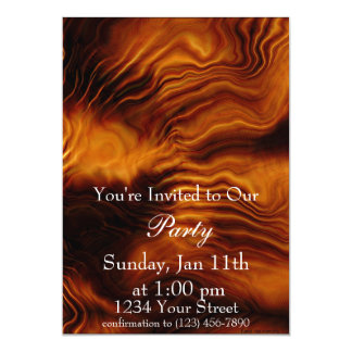 "Flame Party 3 Invite full 5"" X 7"" Invitation Card"