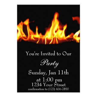 Flame Party Invite