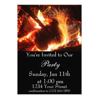 Flame sparks 2 Party Invite