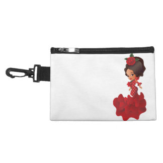 Flamenco cartoon chibi kawaii girl accessory bag