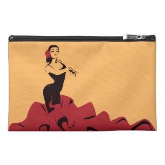 flamenco dancer in a spectacular pose travel accessory bag