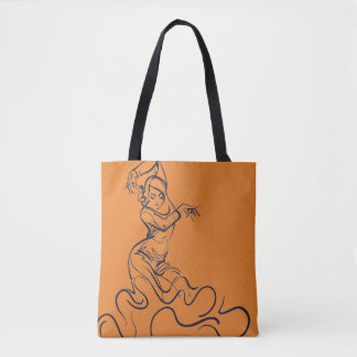 Flamenco dancer sketches tote bag