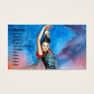 FLAMENCO DANCER watercolour Business Card