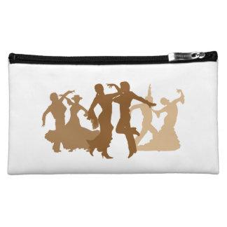 Flamenco Dancers Illustration Cosmetic Bag