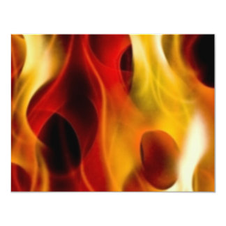 Flames 11 Cm X 14 Cm Invitation Card