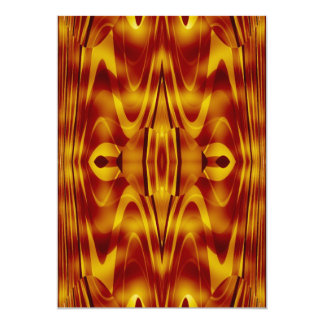 Flames Abstract 5x7 Paper Invitation Card