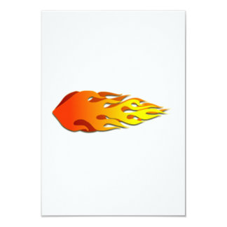 Flames 3.5x5 Paper Invitation Card