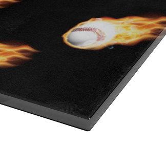 Flaming Baseball Pattern, Fire Balls Cutting Boards