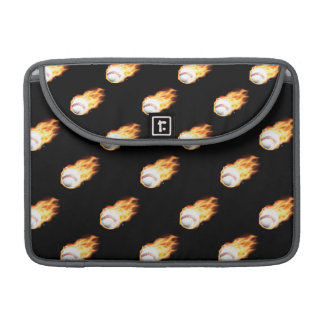 Flaming Baseball Pattern Fire Balls MacBook Pro Sleeve