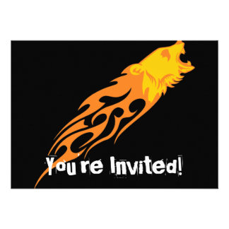 Flaming Bear #1 Personalized Announcement