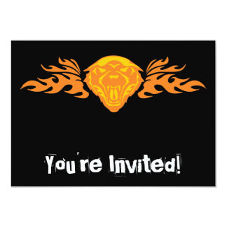 Flaming Bear #4 Personalized Invites