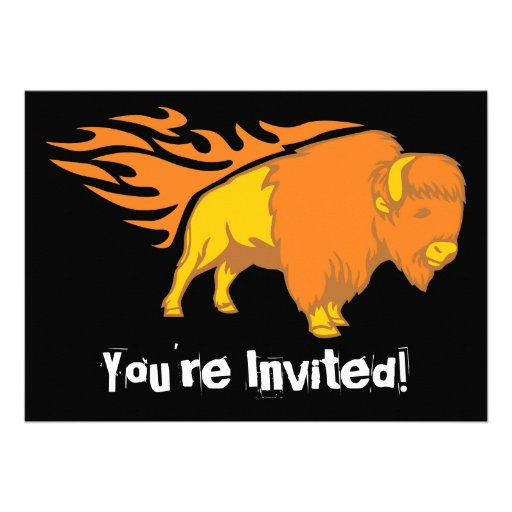 Flaming Bison #2 Personalized Invite