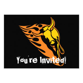 Flaming Bull #2 Personalized Announcements