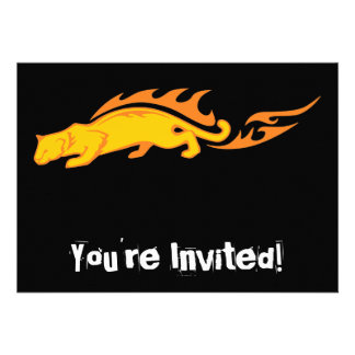 Flaming Cat #1 Personalized Invitations