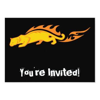Flaming Cat #1 5x7 Paper Invitation Card