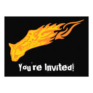 Flaming Cat #3 Personalized Invites