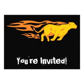 Flaming Cat #4 Invites