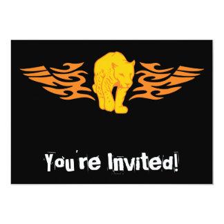 Flaming Cat #5 5x7 Paper Invitation Card