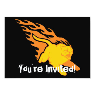 Flaming Cat #6 5x7 Paper Invitation Card