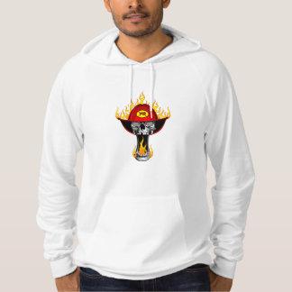 Flaming Firefighter Skull Hoodie