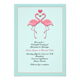 Flaming Flamingos Lesbian Wedding Invitation