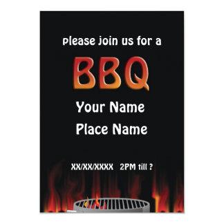 Flaming Hot BBQ Invitation