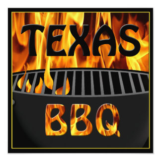 Flaming Hot Texas BBQ Grill Invitation